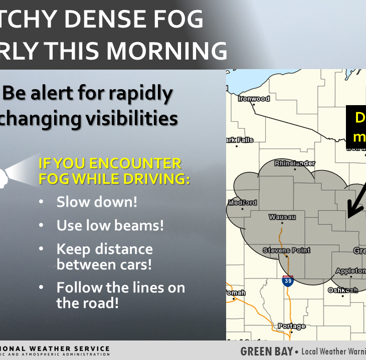 Dense fog during Thursday morning commute, chance for storms possible