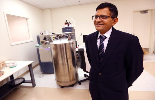 Naresh Jain, PhD President of NJ pharmaceuticals at the Commercialization Center for Innovative Technologies in North Brunswick. New Jersey, a state built on big pharma, is shifting gears and cheerleading for small pharma.  August 14, 2017, North Brunswick, NJ.