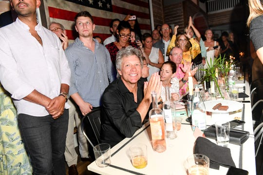Who partied with Bon Jovi in the Hamptons? Hint, it wasn't Chris
