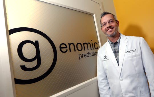 Nathan R. Treff PhD, Chief Science Officer at Genomic Prediction at the Commercialization Center for Innovative Technologies in North Brunswick. New Jersey, a state built on big pharma, is shifting gears and cheerleading for small pharma.  August 14, 2017, North Brunswick, NJ.