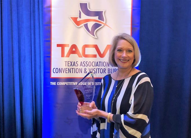 Nanci Liles is honored with Texas Association of Convention & Visitors Bureaus' Legacy Award.
