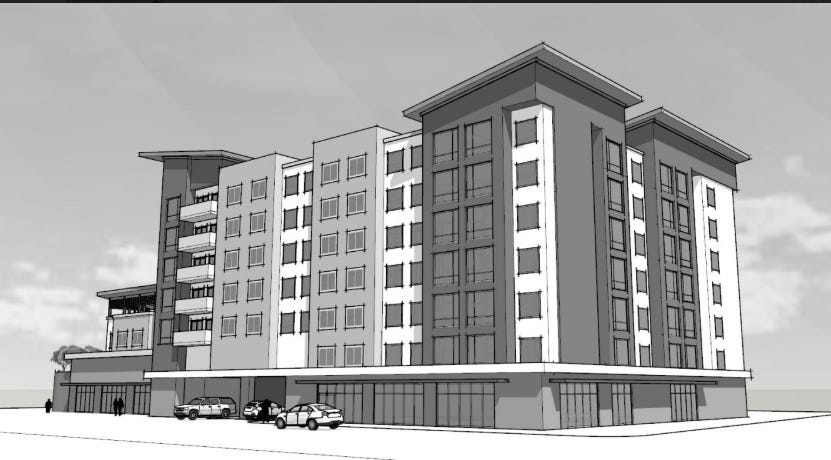 102-room Extended Stay Hotel proposed near Mission Health campus on Biltmore Avenue
