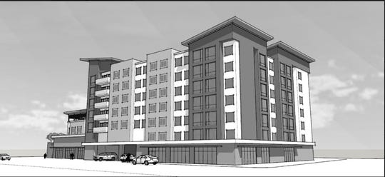 A proposal for a seven-story, 103-room Extended Stay Hotel at 324 Biltmore Ave. was approved Tuesday by Asheville City Council on a 4-3 vote. The plan calls for the development of a hotel as well as $625,000 in additional investments, including half a million dollars to be invested into the city's Affordable Housing Trust Fund.