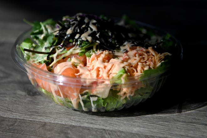 A poke bowl at Yum Sushi Burrito and Poke can be customized with your favorite ingredients.