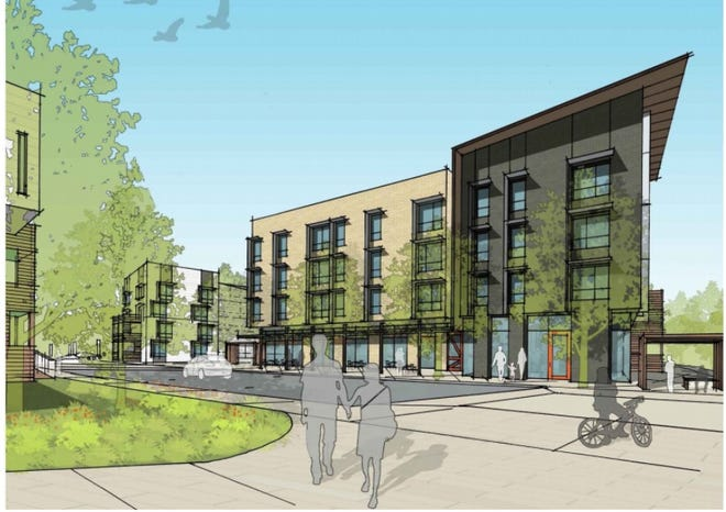 The Asheville Housing Authority has proposed redevelopment and expansion of Lee Walker Heights at 50 Wilbar Ave. in Asheville. The project calls for the addition of 212 new residential units and 10,975 square feet of commercial space, scheduled to be constructed in two phases.
