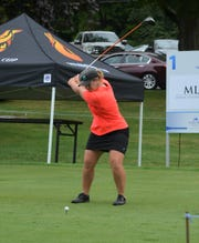 Former MSU golfer Allyssa Ferrell is one of four Spartans in the field at the FireKeepers Casino Hotel Championship, which started Friday at the Battle Creek Country Club.