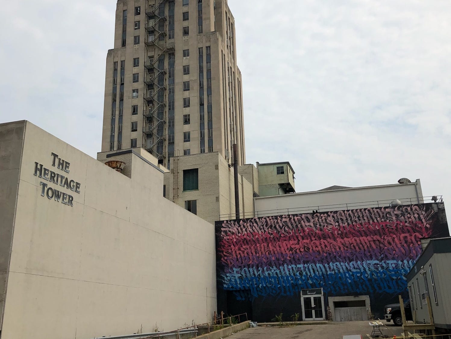 A new mural is visible from West Jackson Street in downtown Battle Creek.