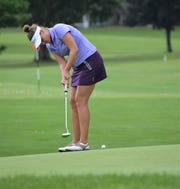 Former Spartan Christine Meier is one of four MSU golfers in the Symetra Tour FireKeepers Casino Hotel Championship, which started Friday at the Battle Creek Country Club.