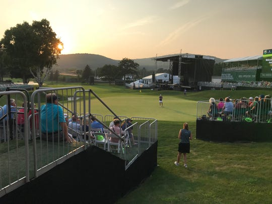 Crowds gathered to watch and hear Annika Sorenstam's UHS Golf Expo at En-Joie Golf Course Wednesday as part of the Dick's Sporting Goods Open.
