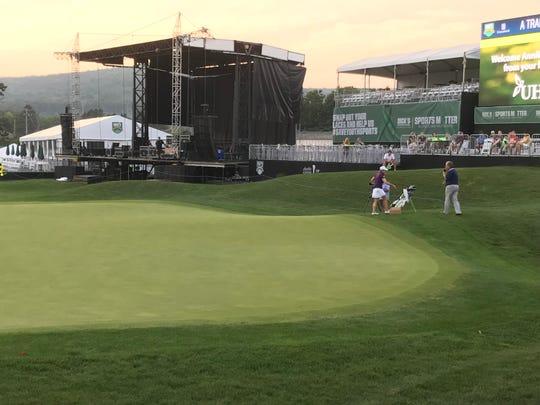 Annika Sorenstam led the UHS Golf Expo Wednesday in Endicott