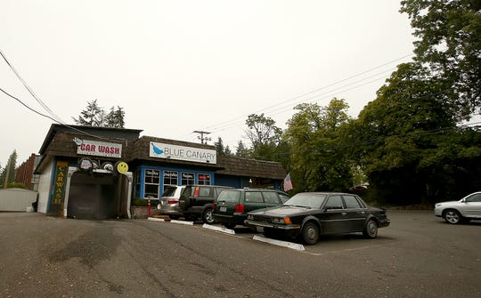 Blue Canary auto shop is located on the corner of Madison Avenue and Wyatt Way on Bainbridge Island.