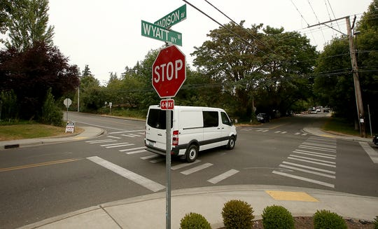 A roundabout has been proposed for the intersection of Wyatt Way and Madison Avenue on Bainbridge Island.