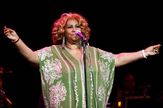 Aretha Franklin performs at Radio City Music Hall in New York City on Feb. 18, 2012.