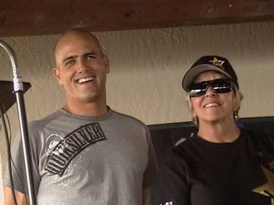 Kelly Slater, with mom Judy Slater, at Kelly Slater Day in Cocoa Beach on Nov. 19, 2005.