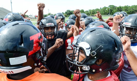 High School Football Palm Bay Magnet High Practice