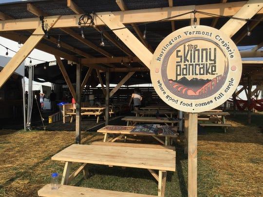 The Skinny Pancake pop-up restaurant on the grounds of Phish's Curveball festival in Watkins Glen, N.Y.
