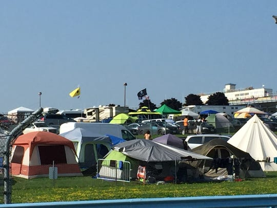 Campers claimed their space Aug. 16, 2018, a day before Phish began its Curveball festival in Watkins Glen, N.Y.