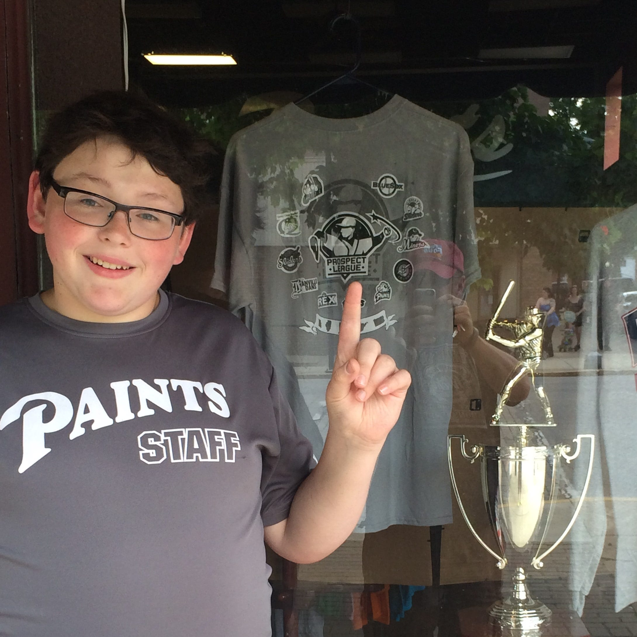 Jackson Fish poses for a picture outside the Chillicothe Paints office in 2015.
