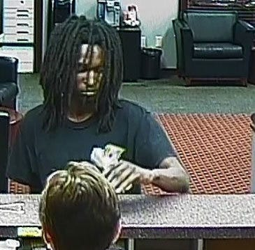 Surveillance footage of the man who robbed a bank in Nashville on Wednesday.