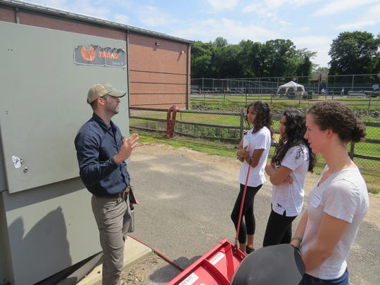 The Wardlaw+Hartridge students also learn about the cooling system