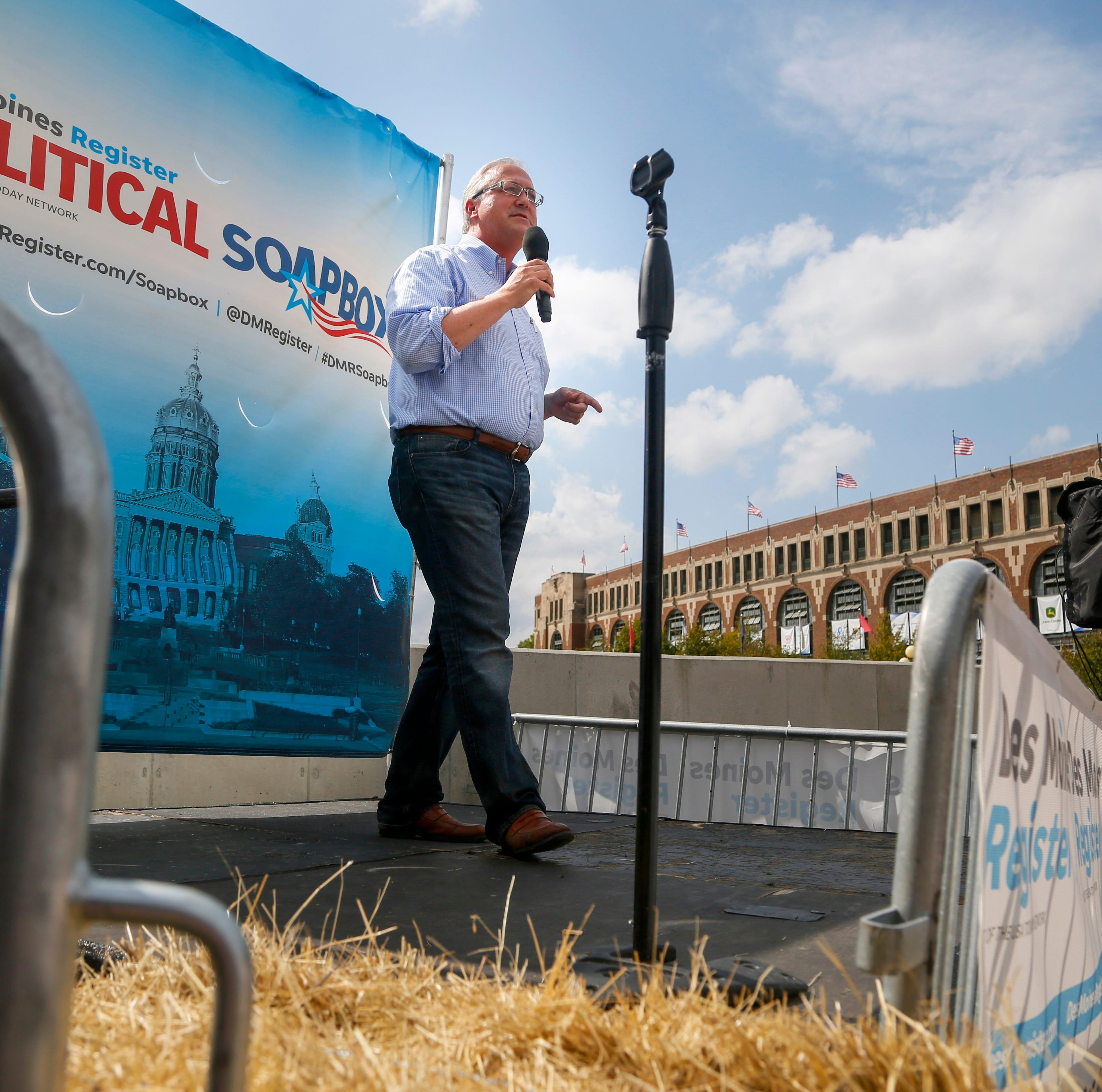 Iowa Rep. David Young, at Iowa State Fair, says Trump's escalating tariffs make him 'nervous'