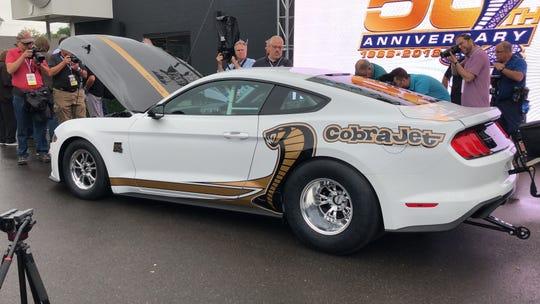Mustang Cobra Jet >> Ford Debuts 50th Anniversary Mustang Cobra Jet Dragster