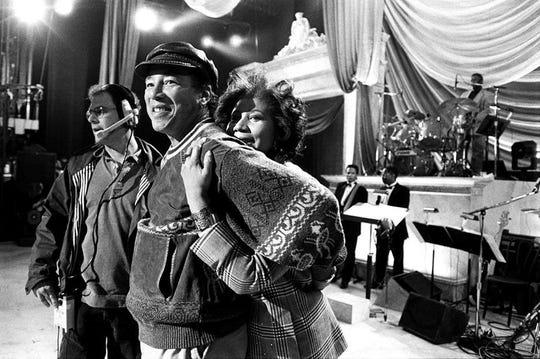Smokey Robinson and Aretha Franklin