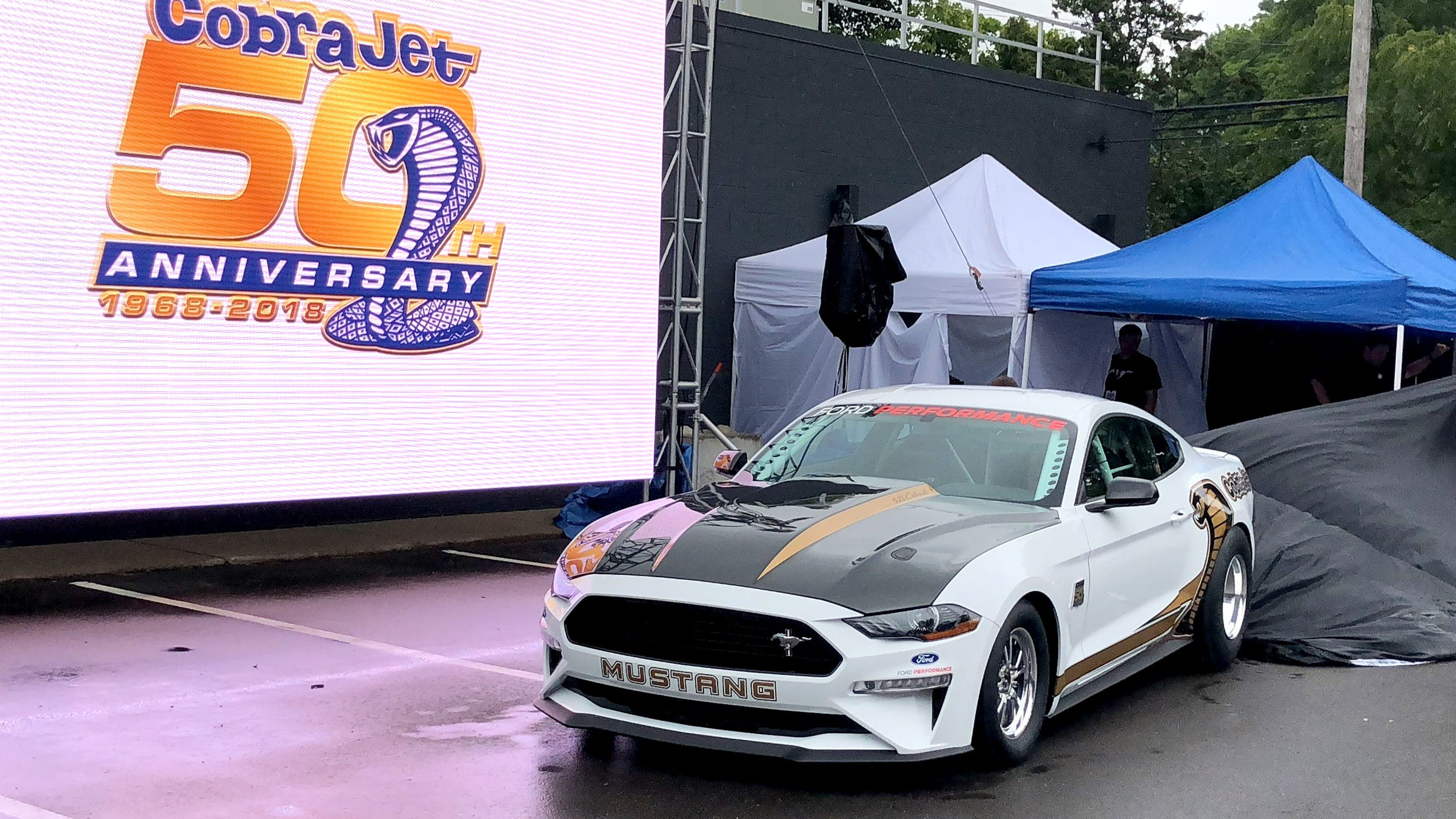 Ford debuts 50th anniversary mustang cobra jet dragster