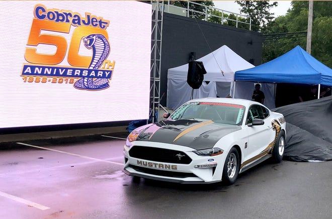Ford unveils $130,000 2018 Mustang Cobra Jet drag racer on Thursday, August 16, 2018.
