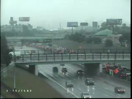 The crash affected all lanes on southbound I-75 at 94.