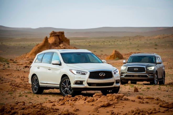 Infiniti SUVs take auto writers into the wilds of Mongolia's Gobi Desert, on a hunt for dinosaur fossils.