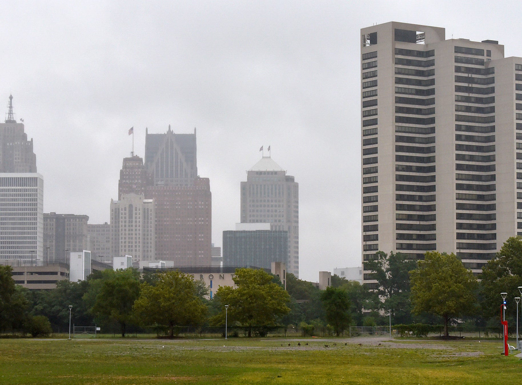 These are the Riverfront Towers where Aretha Franklin lived, August 16, 2018.