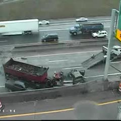 Crash cleared on I-75 at I-94 in Detroit