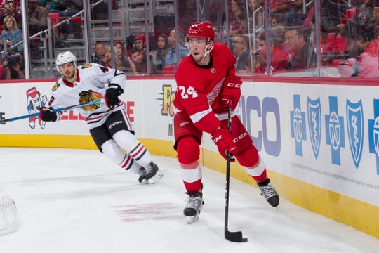 Filip Hronek is part of a wave of young defensemen vying for a roster spot on the Red Wings.