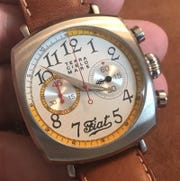 This Terra Cielo Mare watch given to former UAW official General Holiefield was worth several thousand dollars and included the Fiat logo.