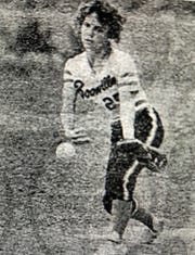 Boonville High School pitcher Tammy Lohr delivers to the plate during a May 15, 1985 game against Castle.