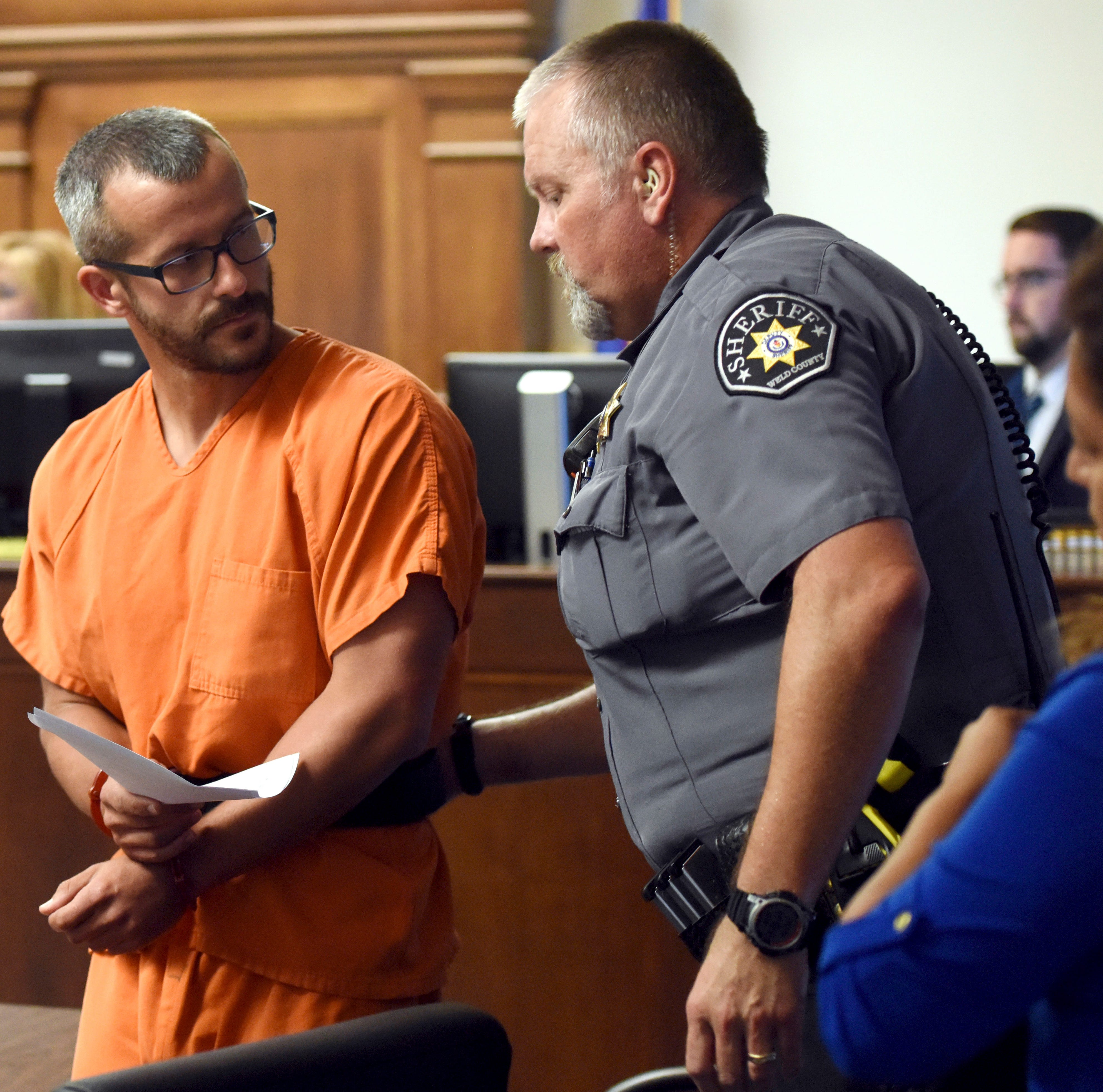 Colorado murder suspect Chris Watts says he killed his pregnant wife after she strangled their two daughters