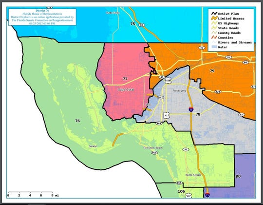 State congressional district 76 includes Pine Island, Sanibel, Fort Myers Beach and Bonita Springs.