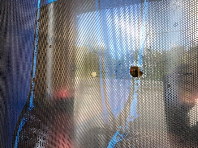 An east Lee County business reported shots fired into its building Monday night.