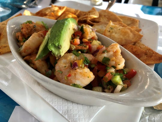 Ceviche with shrimp, scallops and hogfish from Deep Lagoon Seafood in south Fort  Myers.