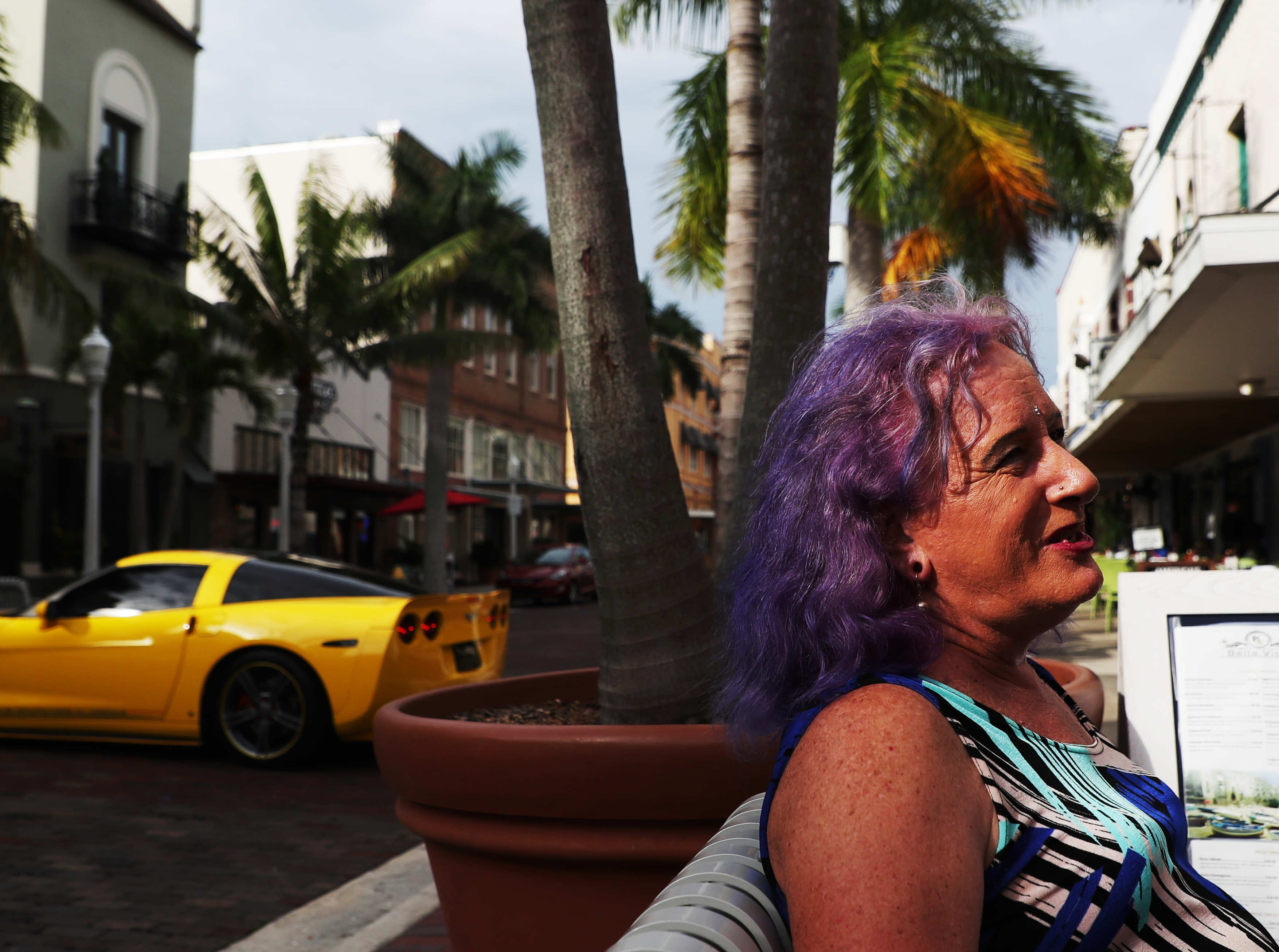 Jenna Satterfield, 62, takes time out from window shopping  in downtown Fort Myers recently. A child of 1960's from New Jersey who always identified with female things Satterfield says transgender women of her generation could be beaten or killed. For this reason she waited until the 1990's to come out.