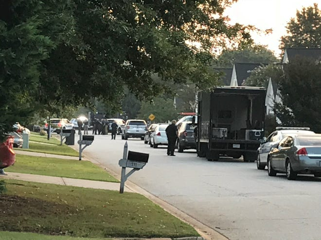 A standoff in Greer on Thursday, Aug. 15, 2018.