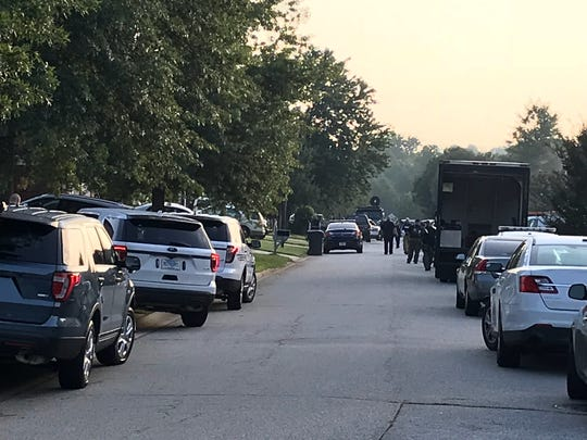 A police standoff underway on Cotter Lane in Greer on Thursday, Aug. 16, 2018.