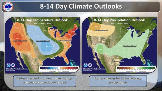 Eight to 14 day weather outlook.