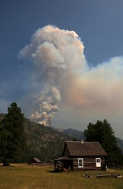 The Brownstone Fire is burning in the Bob Marshall Wilderness and was ignited by lightning.