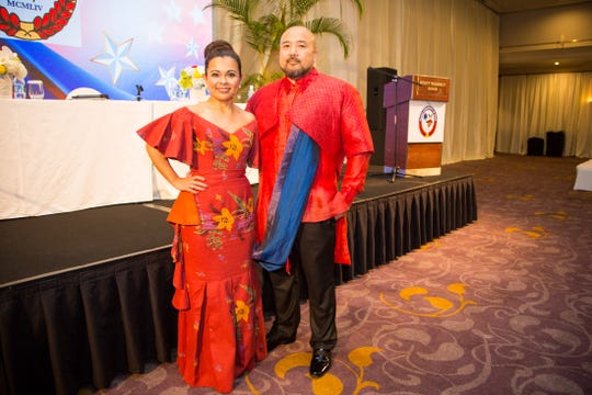 Hernalin Analista, first lady of the Filipino Community of Guam emceed the FCG's political forum on August 10 at the Hyatt Regency Guam while Norman Analista, FCG president moderated the event.