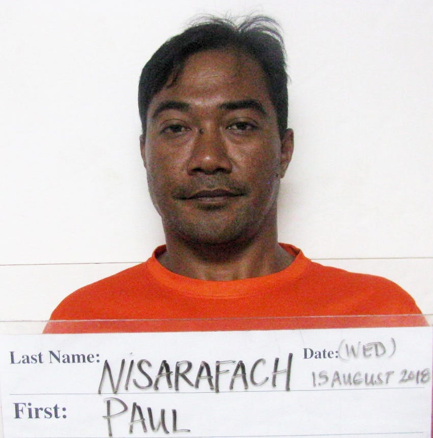 Paul Nisarafach allegedly followed, pulled knife on another motorist