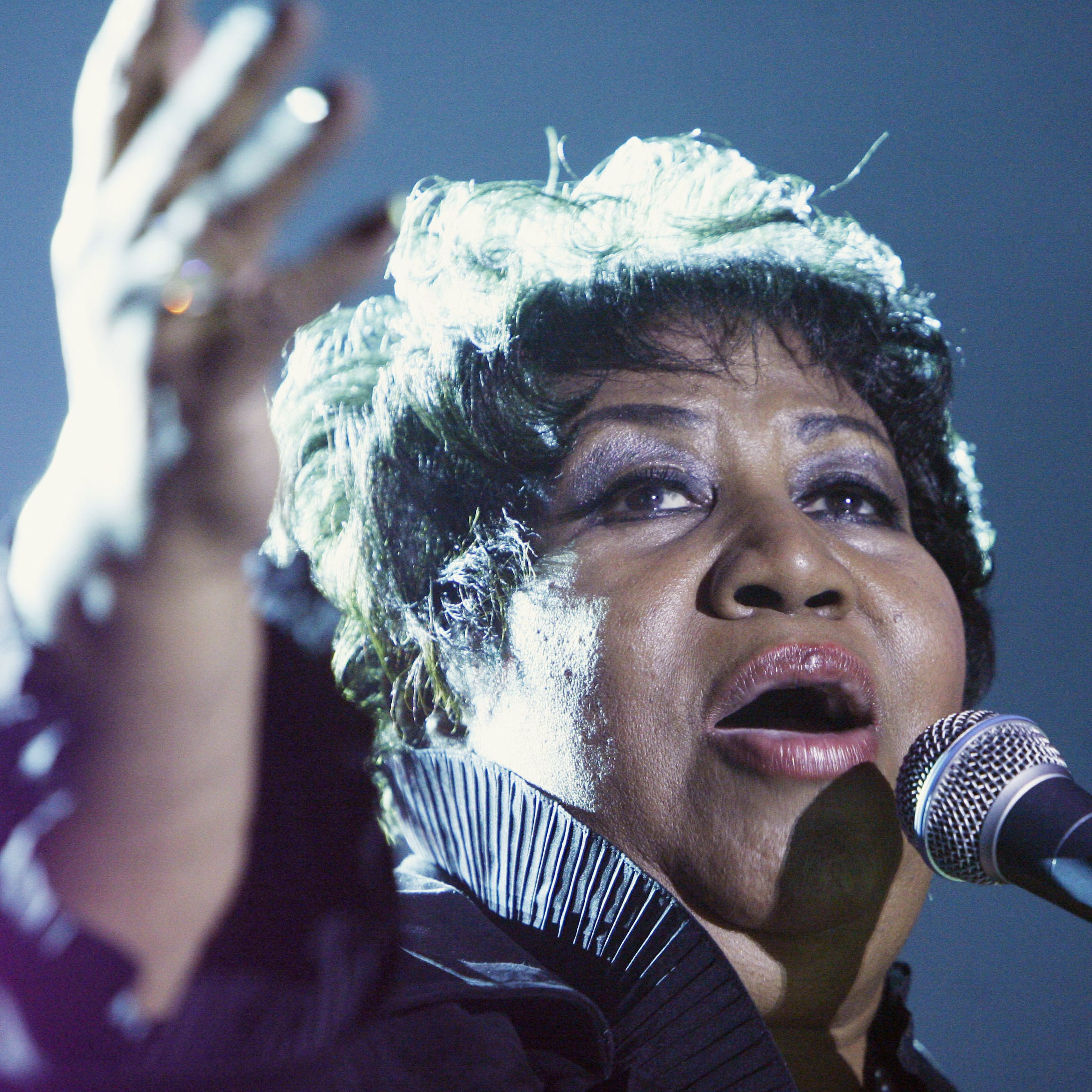 Aretha Franklin confirmed royalty status when playing Hoosier Park in 2008