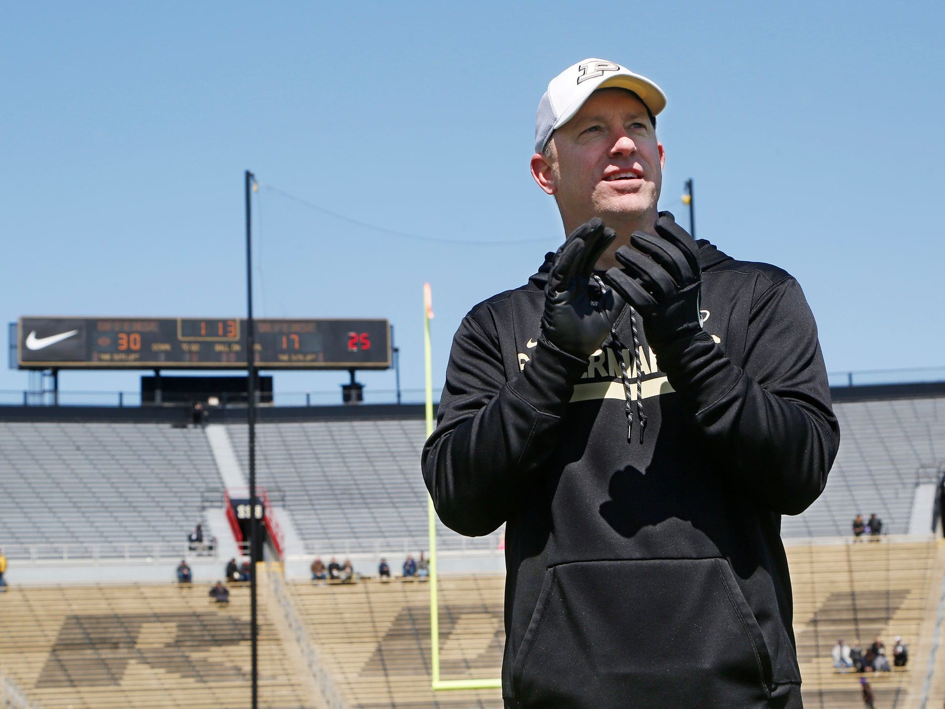 Jeff Brohm enters his second year as Purdue coach with renewed expectations.