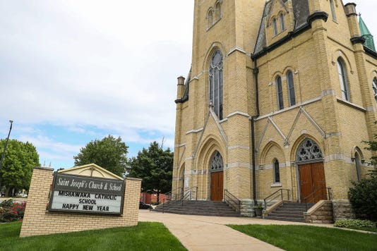 Scene Setting Photos Of Mishawaka After South Bend Fort Wayne Bishop Of Catholic Diocese Kevin Rhoades Named In Grand Jury Report Detailing Sexual Abuse Allegations Against More Than 300 Roman Catholic Priests In Pennsylvania